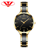 NIBOSI Relogio Feminino Women Watches Top Brand Luxury Watches Diamond Fashion Ladies Watches Simple Ceramic Female Quartz Watch