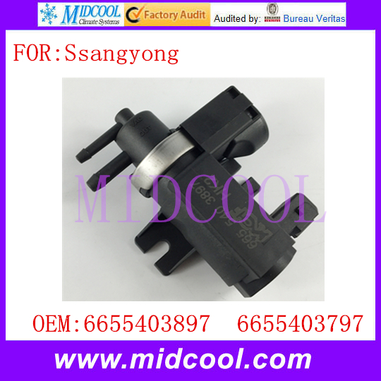 New Vacuum Pressure Converter Valve Solenoid use OE NO 6655403897 6655403797 for Ssangyong
