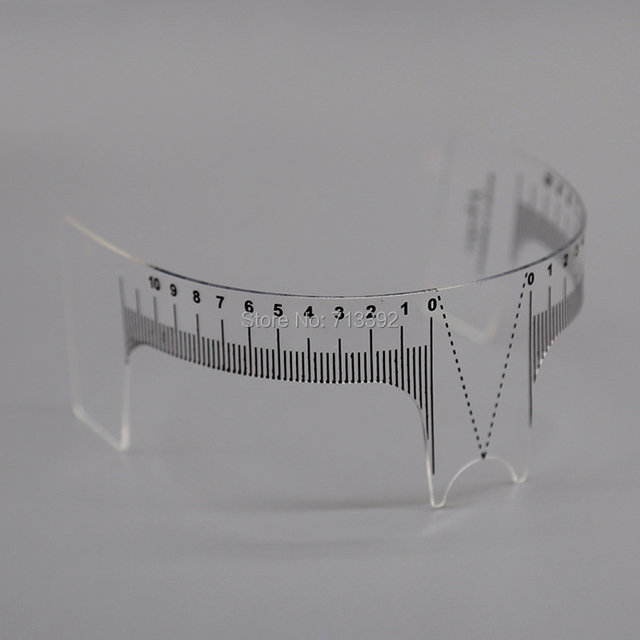 2pcs Eyebrow Grooming Stencil Shaper Ruler Measure Tool Makeup Reusable Permanent Makeup Measure Tools 4