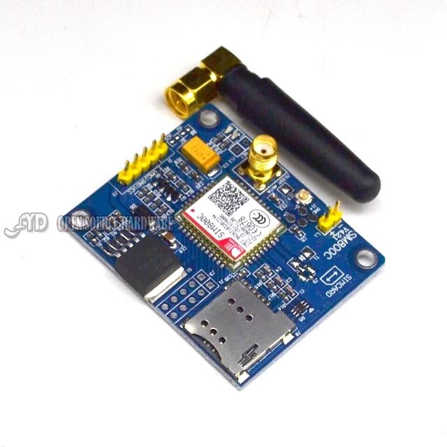 Placa de Desenvolvimento GSM Módulo Mensagem de Apoio Bluetooth TTS SIM800C DTMF Quad-band