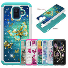 Phone Case sFor Samsung Galaxy A6 2018 Fashion Soft Silicone + Hard PC shockproof Cover For Capa