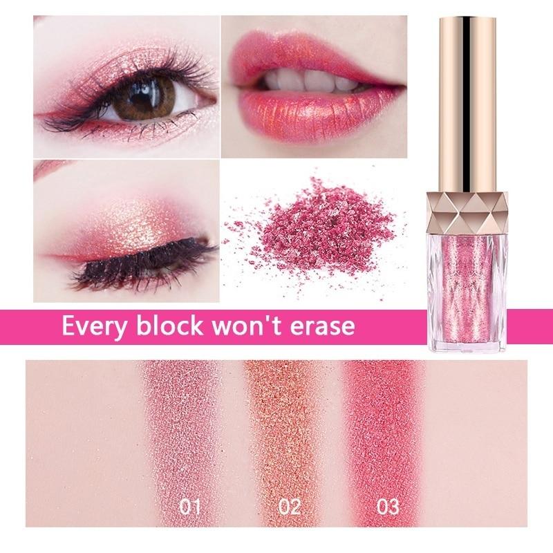 Shimmer Lipstick Long Lasting Metalic Lip Tint Eyeshadow Powder 2 In 1 Glitter Pigment Lipgloss -2195