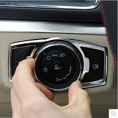 New Stainless Steel Car Interior Trim Headlight Switch Sticker Cover Case For Ford Focus 3 Escort Kuga Car Styling