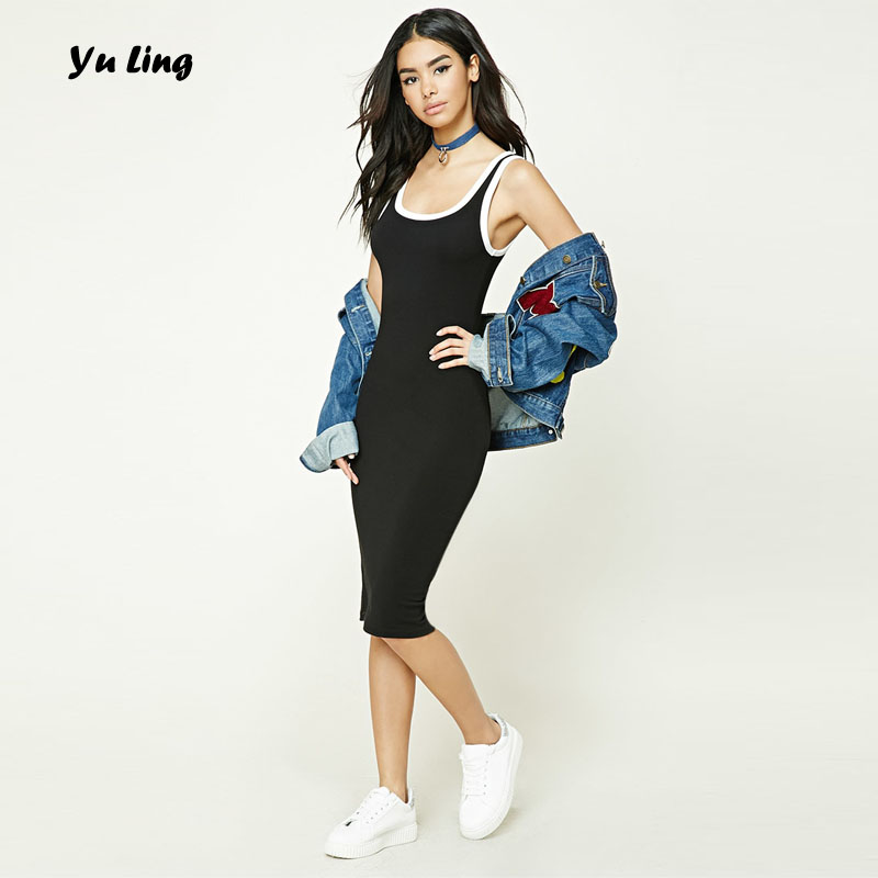 7f87b28a31f2 Yu Ling Women's New Simple Slim Dresses Ladies Simple Sexy Home Shopping Casual  Dress S905
