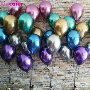 Image 1 - 10pcs Metal Pearl Latex Balloons Birthday Party Decoration Kids Wedding Baby Shower DIY Bachelorette Table Supplies Boy Girl