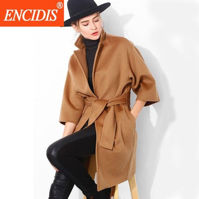 Женщины Пальто 2016 Горячий Продавать Зимой и Осенью Верхняя Одежда Леди Пальто Длинный Ветровка Пояса Тонкий Пальто F123