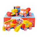 4pcs/lot Fashion Baby Wooden DIY Educational Engineering Vehicles Assembling toys