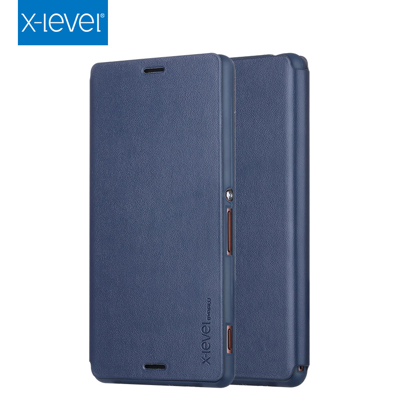 2016 PU Luxury Leather Cover for Sony Xperia Z3 Case Flip Mobile Phone Protect 5 Color