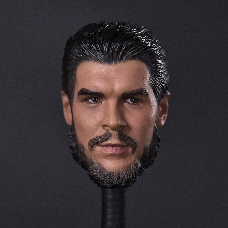1/6 Scale Mens Head Sculpt Che Guevara Carving Model Collections For 12 Male Action  Figures Bodies Dolls  Accessories 1 6 scale mens head sculpt whole block jedi agents mutiny for 12 inches male action figures bodies