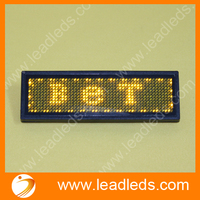 11x44 Yellow Led name sign board badge 84mm*20mm
