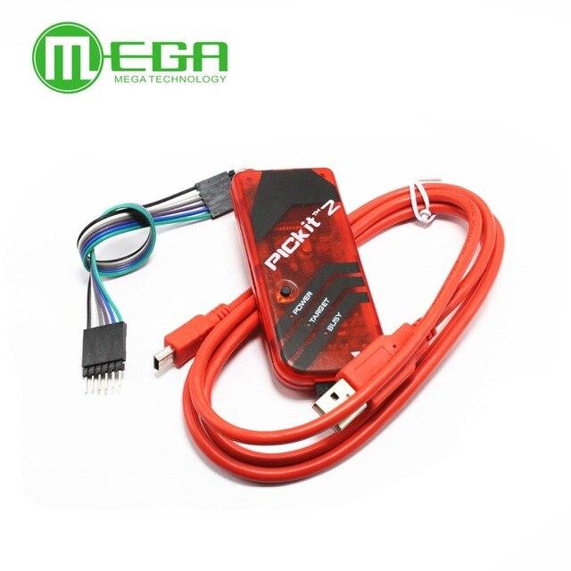 5 sätze/los PICKIT2 PIC Kit2 Simulator PICKit 2 Programmer Emluator Rot Farbe w/USB kabel Dupond Draht