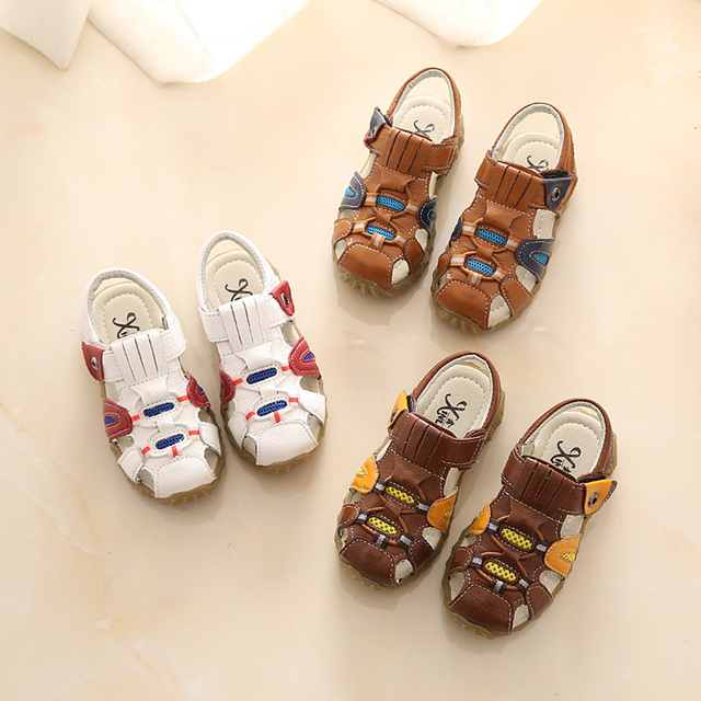 2016 Sandale Garcon Summer Baby Sandals Boys Fashion Kids Casual Shoes Handsome Children Shoes Genuiue Leather Boys sandals