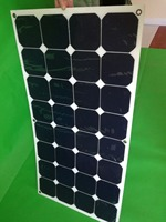 Painel solar flexível branco 100 w que carrega para a tensão 18v da pilha solar de sunpower da bateria 12 v|100w flexible solar panel|flexible solar panel|flexible solar -