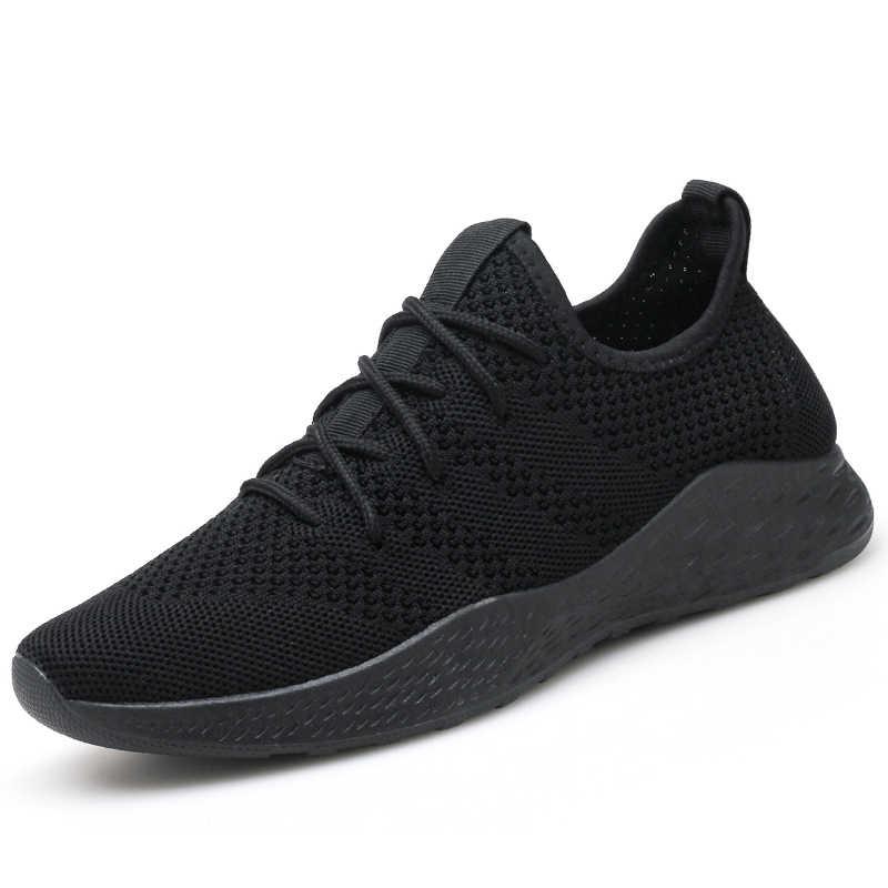 ZYYZYM/мужские кроссовки; Большие европейские размеры 39-46; мужская повседневная обувь на шнуровке; дышащая мужская обувь из сетчатой ткани