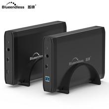 """Blueendless HDD 3,"""" внешний жесткий диск Алюминиевый Usb 3,0 жесткий диск Sata 1 ТБ до 4 ТБ, украшенное мозаикой из драгоценных камней, 12V 2A AC Мощность Disco Duro Externo"""