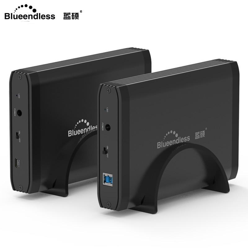 Externe Festplatten Blueendless Hdd 3,5 externe Festplatte Aluminium Usb 3.0 Sata Festplatte 1 Tb Zu 4 Tb Mit 12 V 2a Ac Power Disco Duro Externo