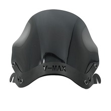 1985   2007 for Yamaha V MAX1300 VMAX1200 Windscreen Windshield Deflector W/ Mount Bracket VMAX1300 V MAX VMAX 1200 1300 Black