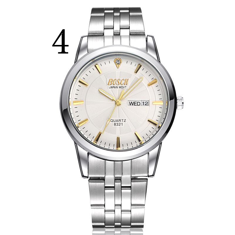 Men's new fashion stainless steel with simple leisure luxury business watch93 2018 new fashion stainless steel belt simple leisure luxury business watch