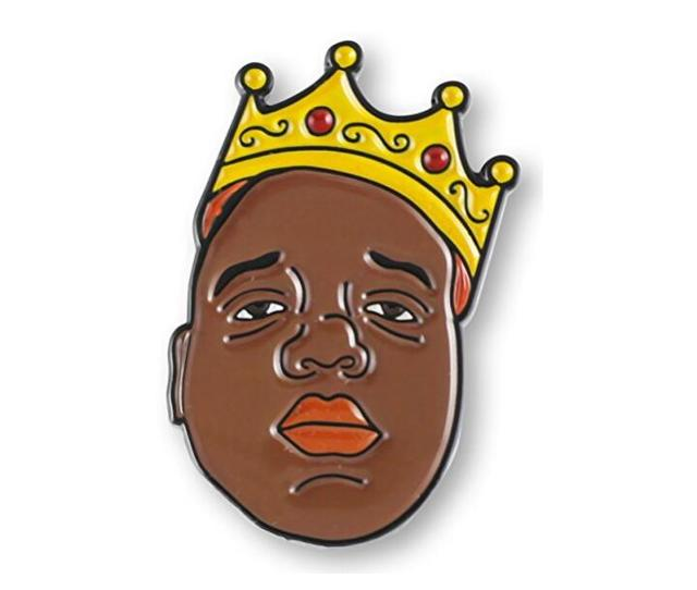 Biggie Smalls B.I.G. Crown Lapel Pin Badge-in Brooches from Jewelry ... f74073d00524