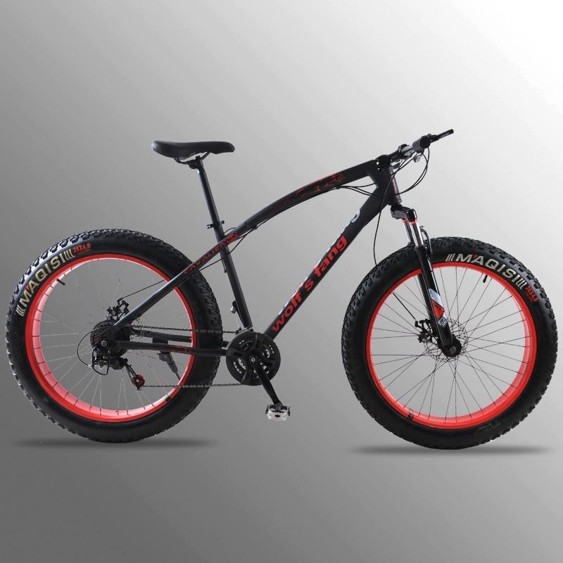 Vuelo de bicicleta de montaña/7/21 velocidad bicicleta 26x4,0 de grasa bicicleta primavera tenedor nieve bicicleta de carretera mecánica de freno de disco