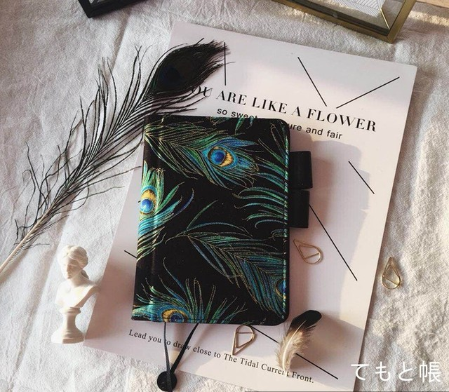 2018 time stage design A6 a5 notebook stationery diary billbook hobonichi  style hobo notebook peacock feather  a1f8b34b068fe