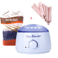 Hair Removal Wax Warmer Machine Set paraffin Heater +1 Bag of Hard Wax Beans&100 of sticks 110V 240V Popular Mini SPA for Summer