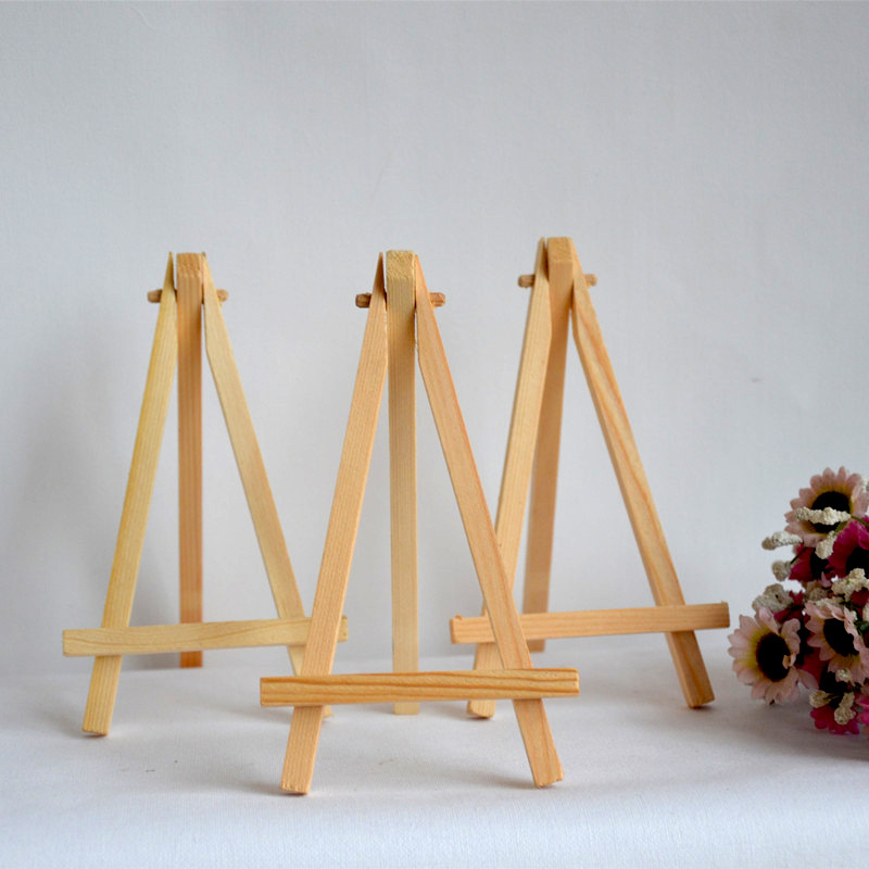 2PCS Mini Display Miniature Easel Wedding Table Number Place Name Card Stand 16*9cm