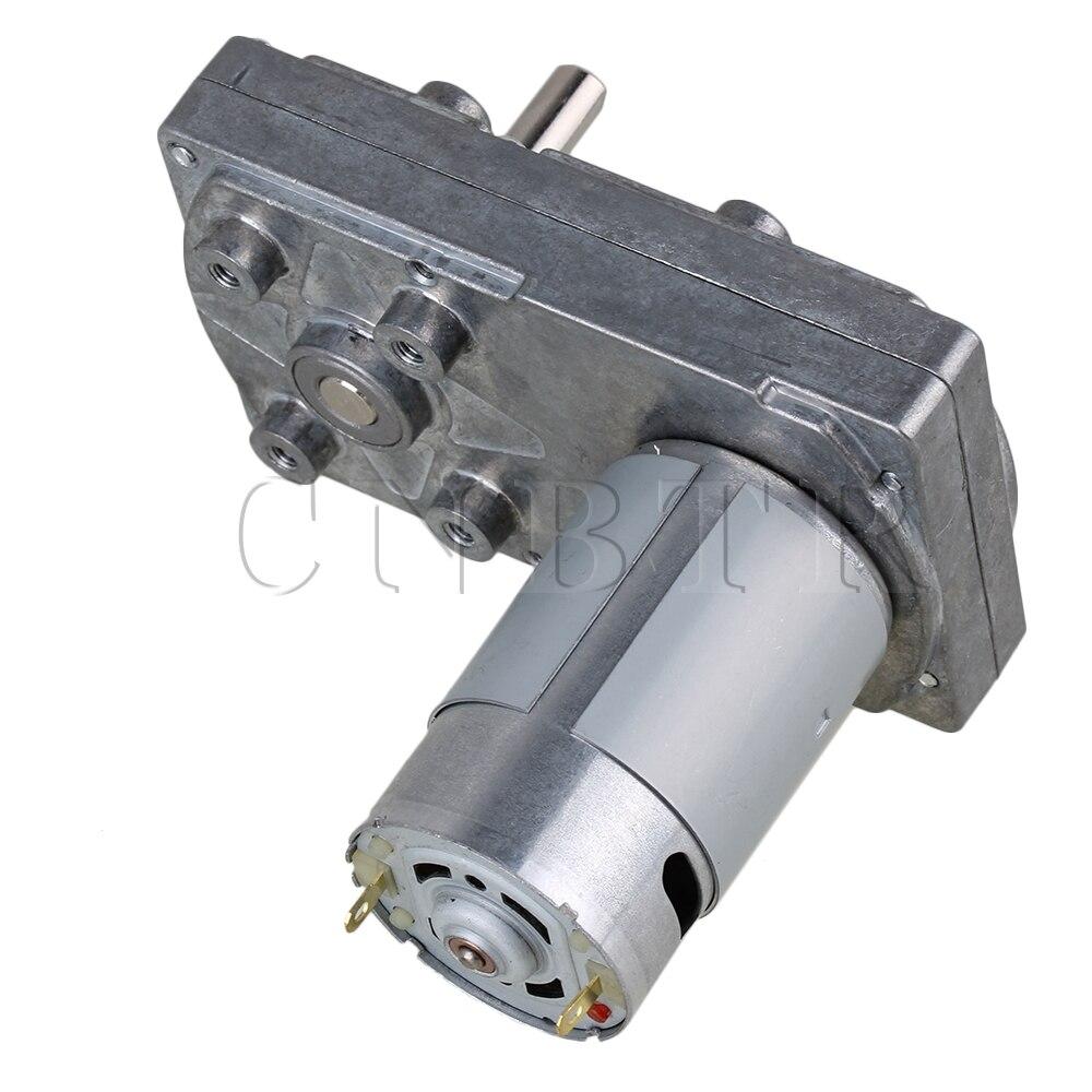 CNBTR 10x6x7.5 cm Argent Métal DC 12 V 34 RPM carré High Torque Faible Vitesse Moteur Droit Angle Électrique Drive moteur
