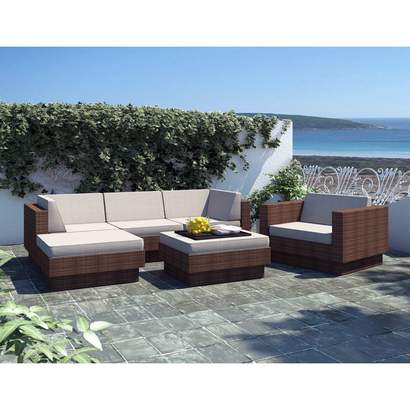 Classic design rattan garden furniture cushion sofa set - Classic Design Rattan Garden Furniture Cushion Sofa Set-in Garden