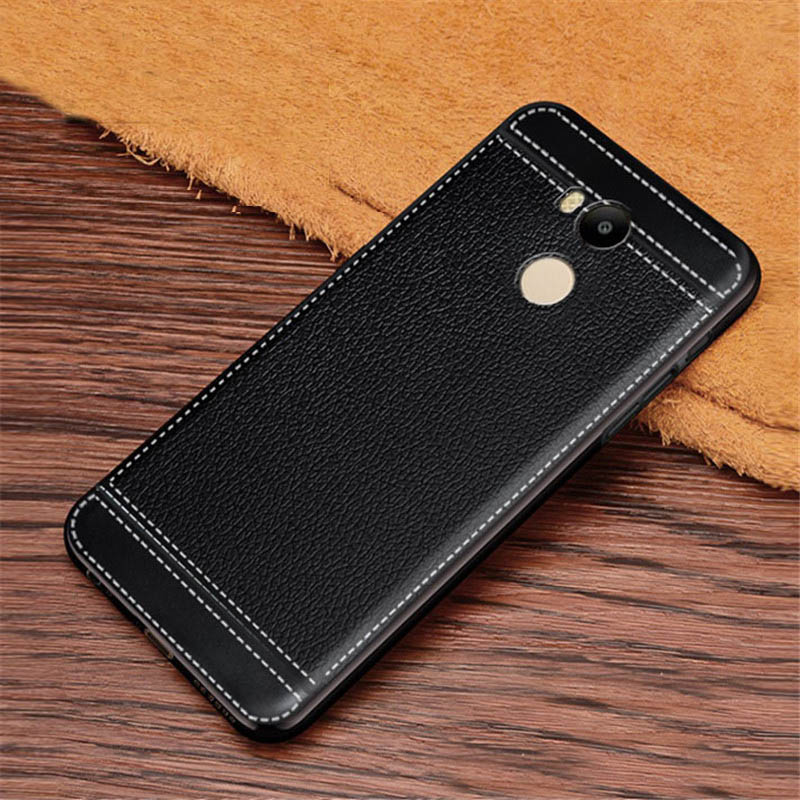 For Xiaomi Redmi 4 Case Leather Texture Soft TPU Case Cover Fundas for Xiaomi Redmi 4 pro prime 4pro 5.0inch Coque Etui Kryt image