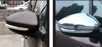 2pcs Lots Rear Mirror Cover Car Styling Chrome Side Door Plating Decorative For Peugeot 2008 2014