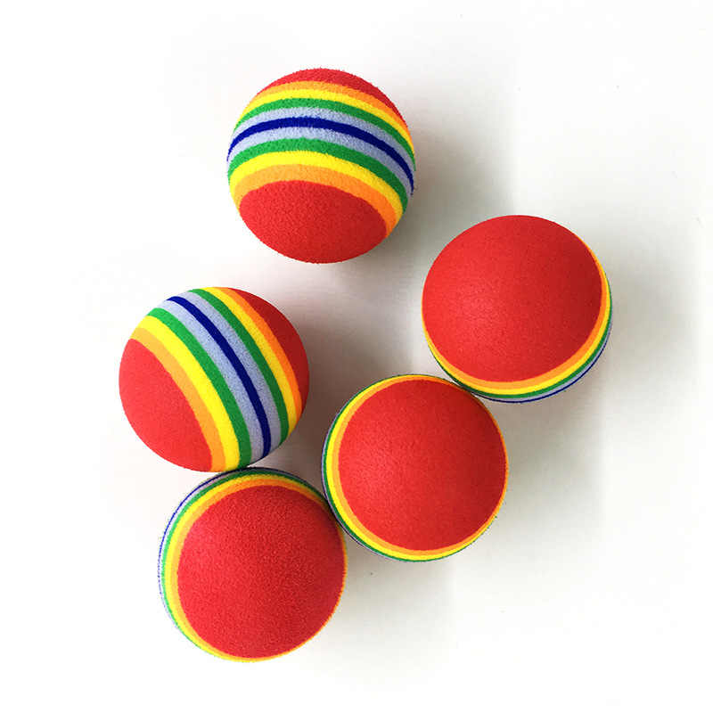 1pcs 35 มม./42 มม./68 มม.EVA Rainbow สีกิจกรรมตลกลูกเด็กโฟมลูกบอลฟองน้ำเด็กเกมกลางแจ้งของเล่น