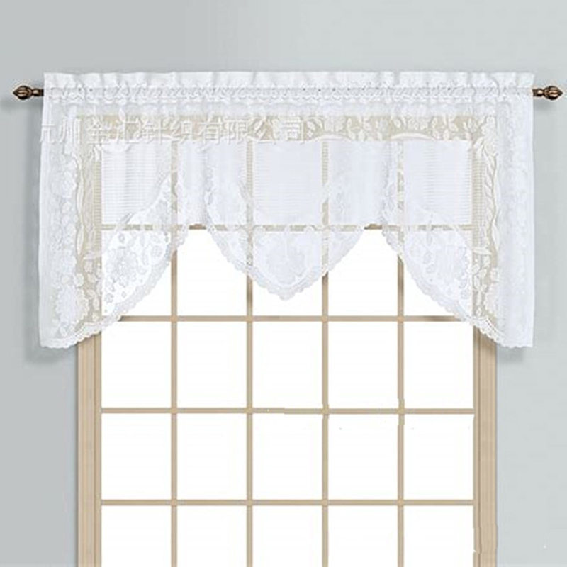 Kitchen Cabinets With Curtains Instead Of Doors: American Rustic Elegant Lace Pelmet Curtains For Door Semi