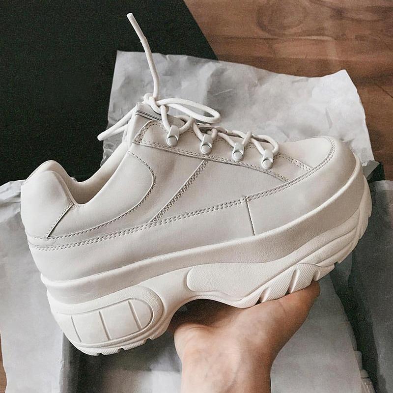 as El Real Pic Las Mujer Más Es Plataforma 6 Negro Zapatos As 5 Para Alta Mujeres Cuero Blanco Nuevo Zapatillas Pic Y Cm 2019 Casuales Deporte De r4SnWTrvP