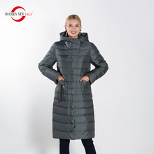 MODERN NEW SAGA Full Sizes Female Warm Winter Parkas Women Fashion Coat Ladies Casual Down Jacket Outwear Clothing For