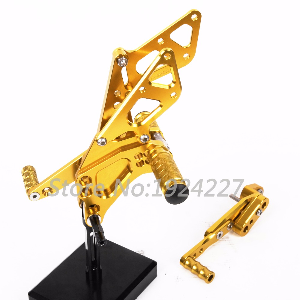Motorcycle Footrest Adjustable Foot Pegs Rear Set For Suzuki GSXR 1000 2009-2014 Hot High-quality Motorcycle Foot Pegs Golden