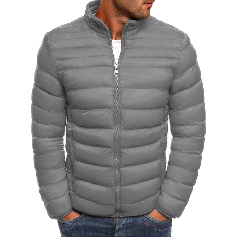 ZOGAA Jackets   Parka   Men Winter Coat Warm Outwear Slim fit mens winter jackets and coats Casual Windbreaker stripe coat for men