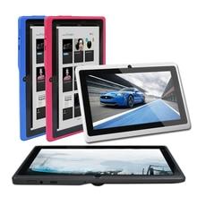 Yuntab 7 Pulgadas 8G Q88 Allwinner A33 Quad-core Tablet PC Google Android 4.4 Pantalla Táctil de 1024*600 con Doble Cámara
