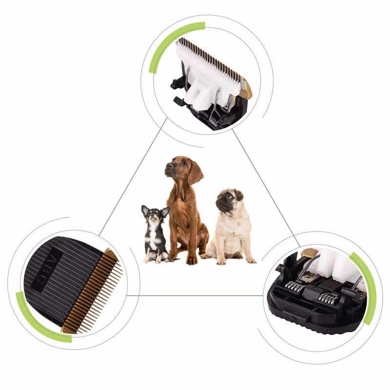 プロフェッショナルペット犬猫バリカン交換可能なセラミック刃カットヘッド犬毛トリマーグルーミングクリッパーブレード