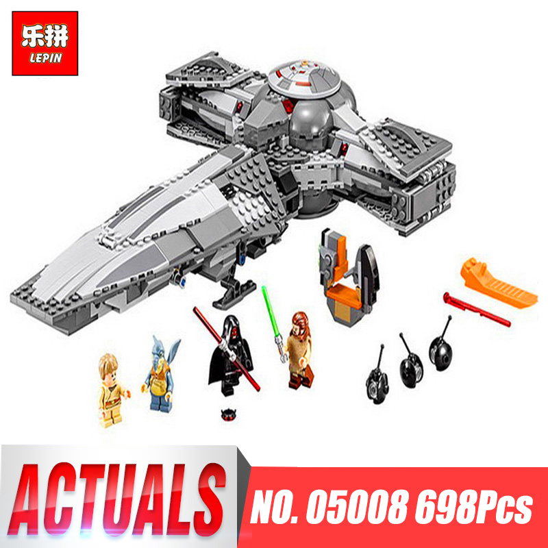 New Lepin 05008 698pcs Star Set Wars Sith Infiltrator Figure Marvel Building Blocks Set Toys Compatible With legoINGlys 70596 new lepin 698pcs 05008 star wars sith infiltrator figure marvel building blocks set toys compatible legoed with 7961