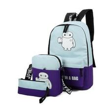 Wholesale Luminescence women backpack nylon Korean school bag laptop backpacks for teenage girls preppy style dots