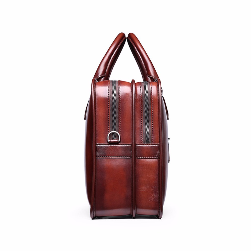 TERSE Wholesale Price Men Business Briefcase Handmade Venezin Cow Leather  Handbag Shoulder Bag 4 Color in Stock Dropshipping 361-in Briefcases from  Luggage ... fbdea491ba