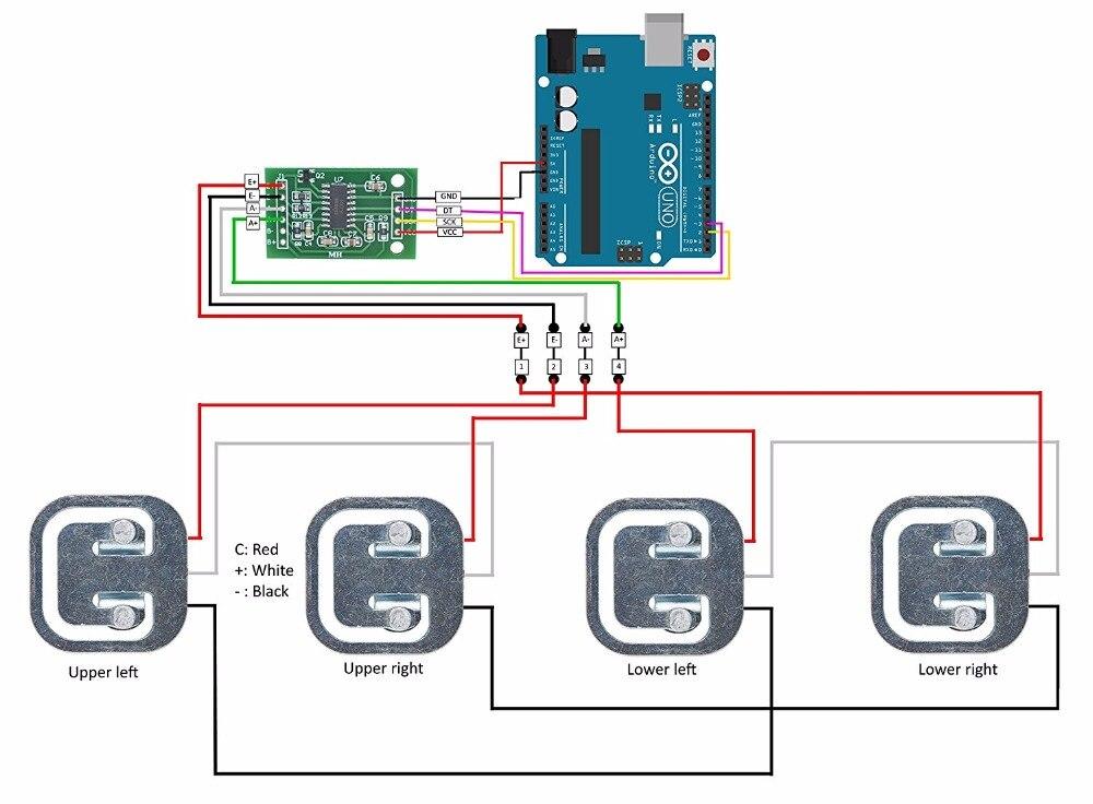 FZ1802AX4+FZ0728  4 pcs 50kg Load Cell HX711 weight sensor