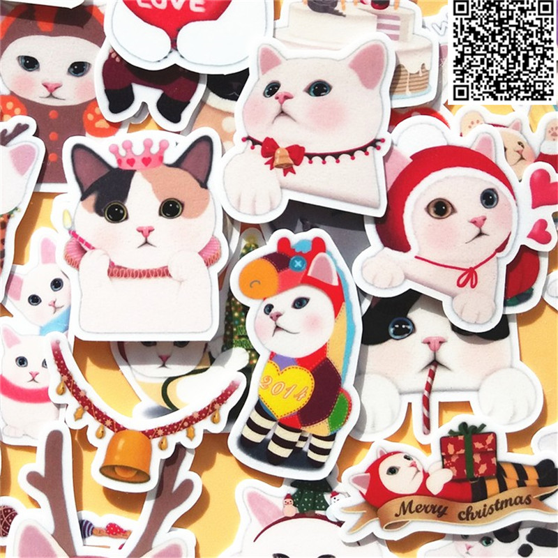 40 Pcs Cute Cat Everyday Stickers For Home Decor On Phone Book Macbook Laptop Sticker Decal Fridge Skateboard Doodle Toy