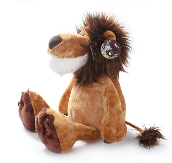 Nici plush toy stuffed doll brown lion jungle series forest animal bed time night story birthday gift 1pc free shipping ...