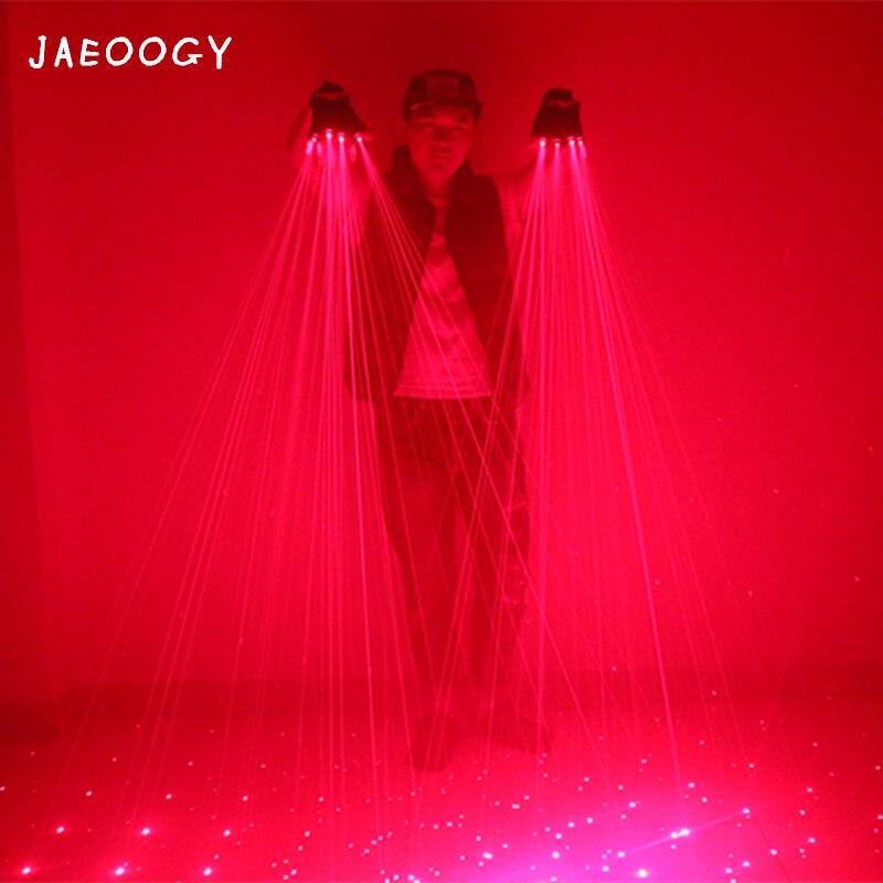 Пользовательские творческих красный лазер перчатки, ночной клуб вечерние, светящиеся очки, флуоресцентный Перчатки, концертная магия рекв...