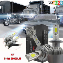 SPEVERT Upgraded H7 110W 26000LM 6000K Diamond White Car LED Headlight Kit Replacement Bulbs without Canbus 12v 24v