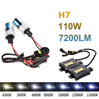 2Pcs H7 55W Xenon HID Kit Car Auto Headlights Bulb Slim Ballast 4300K 6000K 8000K HID