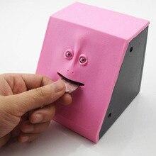3 Colors Cute Face Bank Sensor facebank Piggy Bank Alcancia Moneybox Hucha Saving Money Coin Box Creative Gift For Kids Children