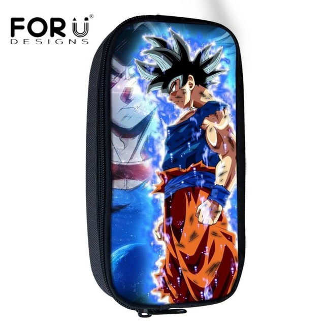 e6a6bb553d61 US $8.09 10% OFF|FORUDESIGNS Cosmetic Bags Anime Dragon Ball Super Print  Student Pencil Case Bags Kids Boys Pen Pouch School Supplies Stationery-in  ...